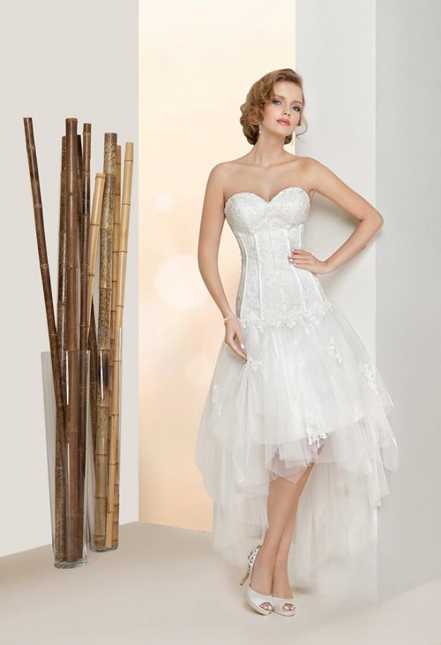 korte witte trouwjurk goedkoop